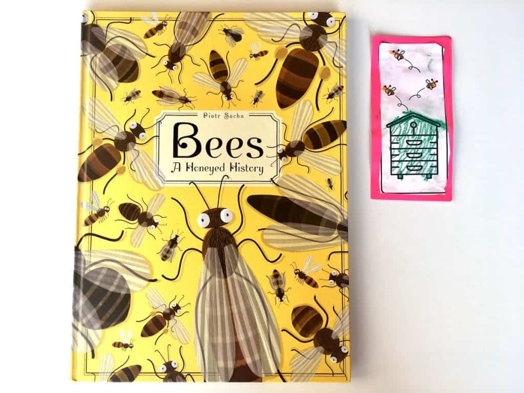 Beehive Bookmark and book
