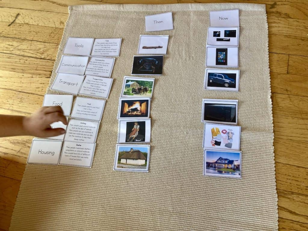 cards with images of human needs, descriptions, and headers